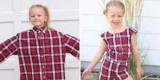 Эта мама шьет детские платья из старых мужских рубашек (Фото)